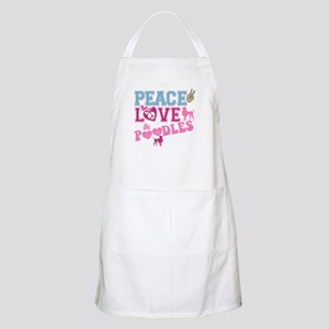Peace Love and POODLES! BBQ Apron