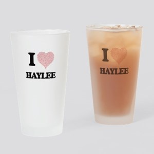 I love Haylee (heart made from word Drinking Glass