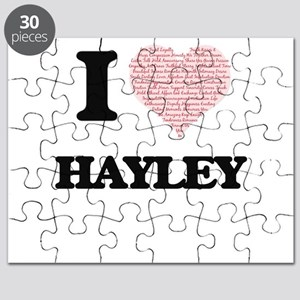 I love Hayley (heart made from words) desig Puzzle