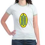 Christmas Flower Tree Jr. Ringer T-Shirt