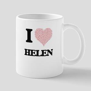 I love Helen (heart made from words) design Mugs