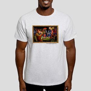 Gods Playing Poker Light T-Shirt