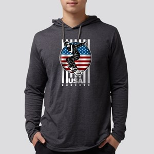 USA Womens Snowboarding Mens Hooded Shirt
