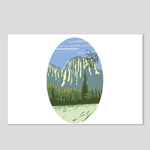 El Capitan Granite Monolith Oval WPA Postcards (Pa