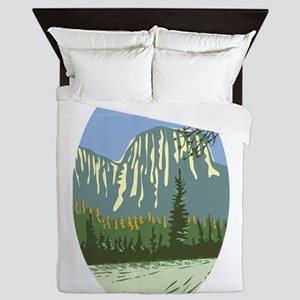 El Capitan Granite Monolith Oval WPA Queen Duvet