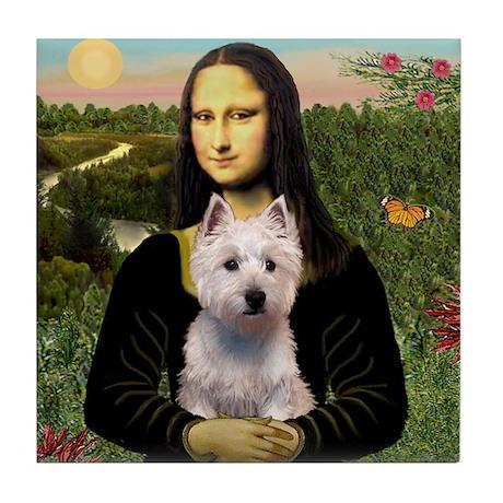 Mona Lisa & West Hightland Tile Coaster