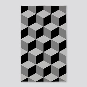 Cube Big Ptn Blk/greys Area Rug