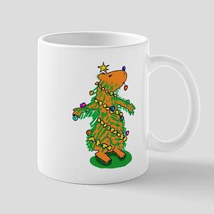 Christmas Tree Capybara Mugs