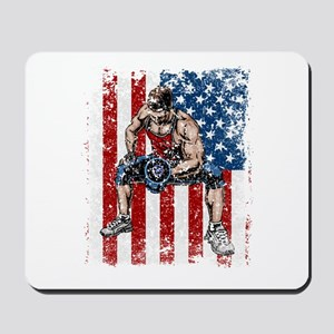 Weightlifter Dumbbell Fitness Mousepad