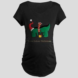 T-Rex hates Christmas Maternity T-Shirt