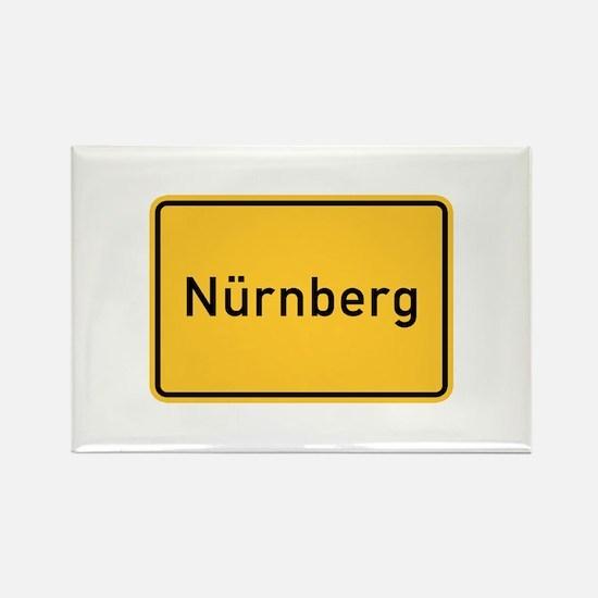 Nuremberg Roadmarker, Germany Rectangle Magnet
