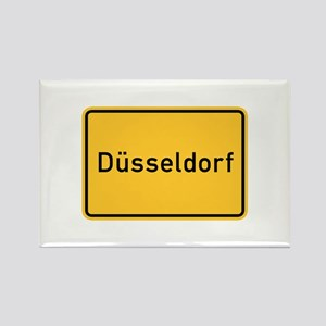 Düsseldorf Roadmarker, Germany Rectangle Magnet