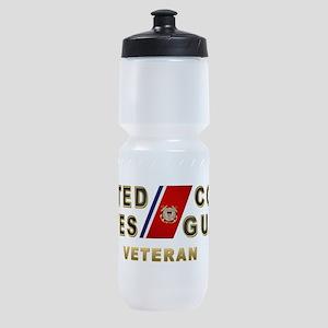uscg_vetx Sports Bottle