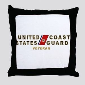 uscg_vetx Throw Pillow
