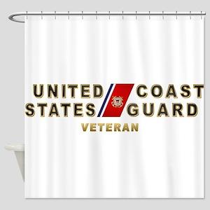 uscg_vetx Shower Curtain