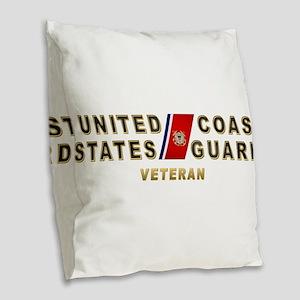 uscg_vetx Burlap Throw Pillow