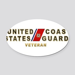 uscg_vetx Oval Car Magnet