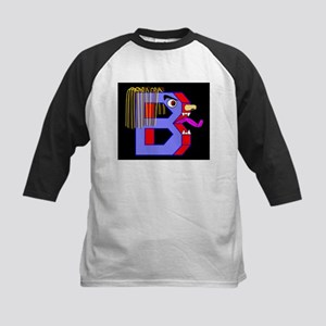 FACE OF THE LETTER B Kids Baseball Jersey