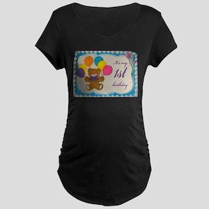 Boy 1st birthday Maternity Dark T-Shirt