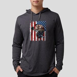 Weightlifter Preacher Curl Gym Mens Hooded Shirt