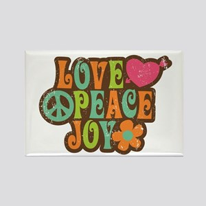 Love Peace Joy Retro Vintage 1970s Magnets