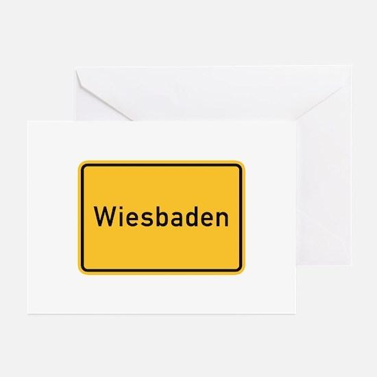 Wiesbaden Roadmarker, Germany Greeting Cards (Pk