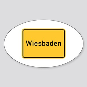 Wiesbaden Roadmarker, Germany Oval Sticker