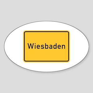 Wiesbaden Roadmarker, Germany Oval Sticker