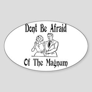 Magnum condom Oval Sticker