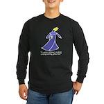 Old Man in a Dress Long Sleeve Dark T-Shirt