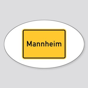 Mannheim Roadmarker, Germany Oval Sticker