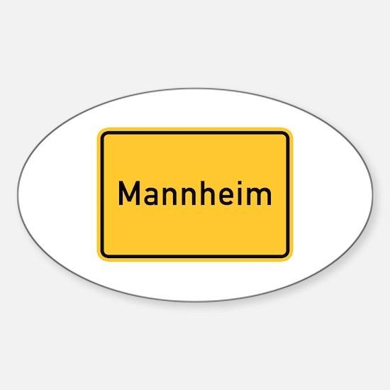 Mannheim Roadmarker, Germany Oval Decal