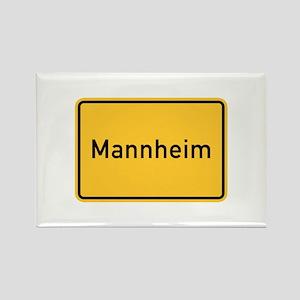 Mannheim Roadmarker, Germany Rectangle Magnet