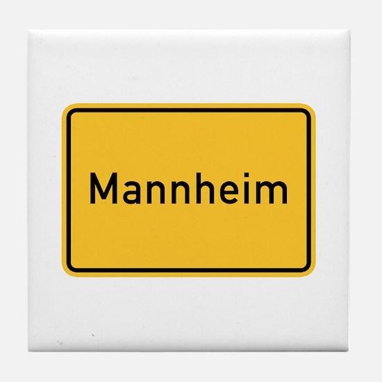 Mannheim Roadmarker, Germany Tile Coaster