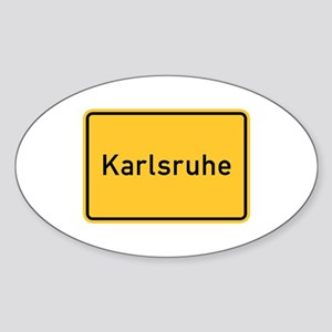 Karlsruhe Roadmarker, Germany Oval Sticker