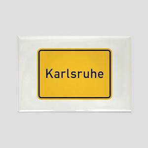 Karlsruhe Roadmarker, Germany Rectangle Magnet