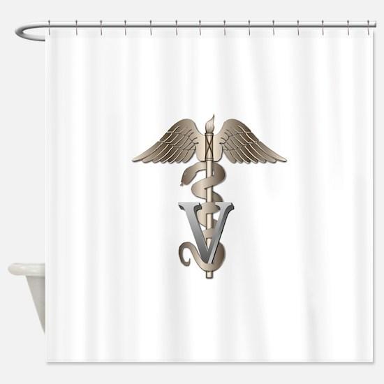 vet_g.png Shower Curtain