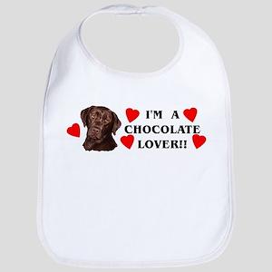 chocolate lab lover Bib