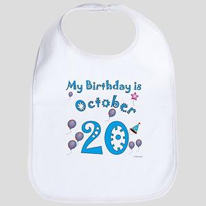 October 20th Birthday Bib