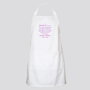 Funny aging poem BBQ Apron