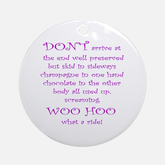 Funny aging poem Ornament (Round)