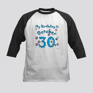 October 30th Birthday Kids Baseball Jersey