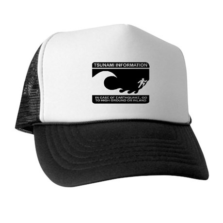 Tsunami Information Trucker Hat