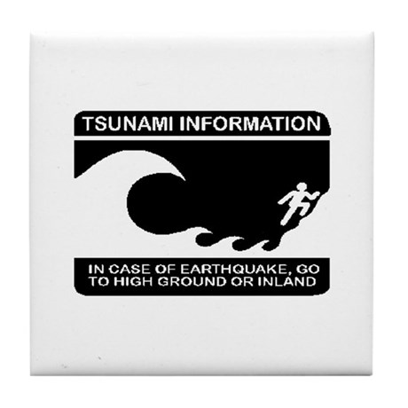 Tsunami Information Tile Coaster