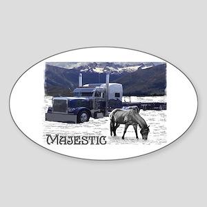 Majestic Oval Sticker