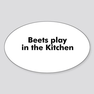 Beets play in the Kitchen Oval Sticker