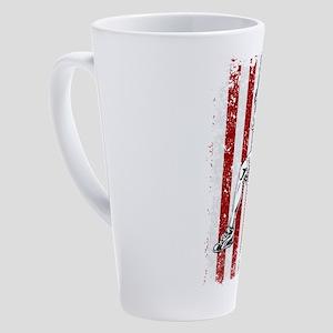 Weightlifter Dumbbell Shoulder Pre 17 oz Latte Mug