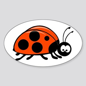 LadyBug Oval Sticker