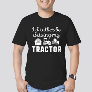 I'd Rather Be Driving My Tractor Men's Fitted T-Sh