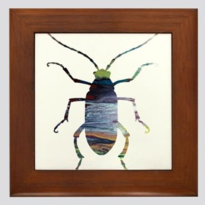 beetles Framed Tile
